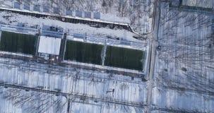 Футбольное поле на зиме сток-видео