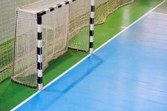 Футбольное поле, тренировочное поле в спортзале крытом, поле Futsal спорта футбола Стоковое Изображение