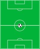 Футбольное поле. Стоковые Фотографии RF
