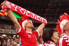 Футбольный болельщик от Польши Стоковые Изображения RF