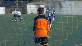 Футбольный матч команд ` s детей акции видеоматериалы