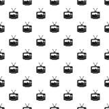 Футбольный матч на векторе картины ТВ иллюстрация вектора