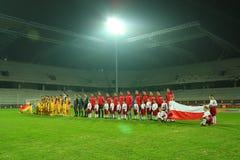футбольный матч Стоковые Изображения