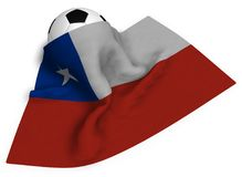 Футбольный мяч и флаг chile бесплатная иллюстрация