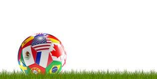 Футбольный мяч сигнализирует 3d-illustration бесплатная иллюстрация