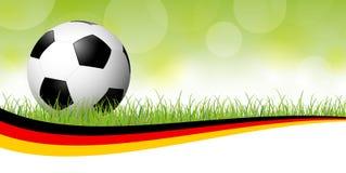 футбольный мяч с немецким знаменем Стоковые Фотографии RF