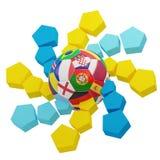 Футбольный мяч 3d-illustration Стоковое Изображение