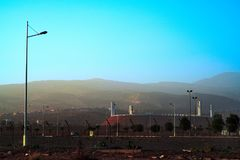Футбольный стадион Агадира Adrar современный стоковое изображение rf