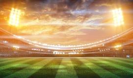 Футбольный стадион 3D стоковые фотографии rf