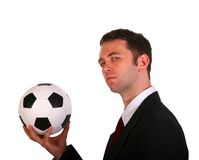 футбол бизнесмена Стоковые Фото