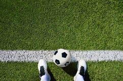 Футбол ботинка и шарика Стоковое Изображение