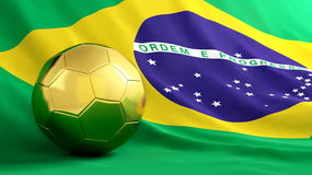 футбол Бразилии Стоковые Фото
