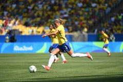 Футбол Бразилия женщин стоковые изображения rf