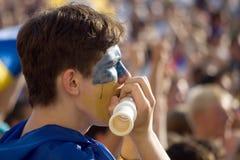 футбол вентилятора Стоковое Изображение RF