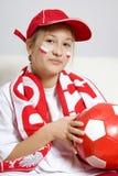 футбол вентилятора Стоковое фото RF