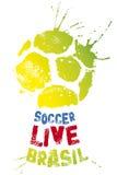 футбол в реальном маштабе времени плаката стоковое фото rf