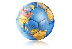 футбол глобуса Стоковая Фотография
