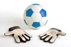 футбол голкипера перчаток Стоковая Фотография RF