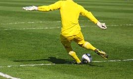 футбол голкипера футбола Стоковая Фотография