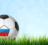 футбол горящего стекла шарика aqua вектор Стоковая Фотография