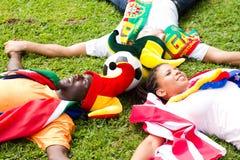 футбол группы вентиляторов стоковая фотография