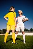 футбол девушок Стоковая Фотография RF