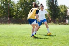 Футбол девушок Стоковые Изображения RF