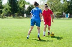 Футбол девушок Стоковое фото RF