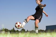 футбол девушок Стоковые Изображения