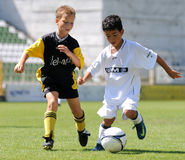 футбол действия Стоковое Изображение