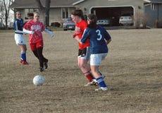 футбол действия Стоковая Фотография RF