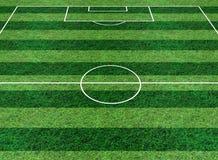 футбол зеленого цвета травы поля Стоковое Фото