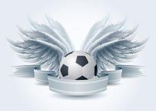 футбол знамени ангела Стоковое Изображение