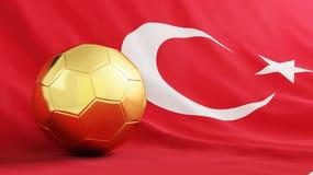 футбол золота шарика иллюстрация вектора