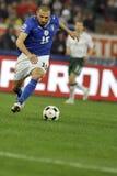 футбол игрока идущий Стоковая Фотография RF
