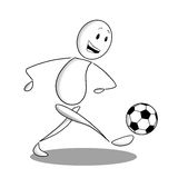 футбол игрока иконы стоковые фото
