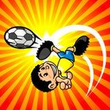 футбол игрока мальчика brasilian Стоковое Изображение RF