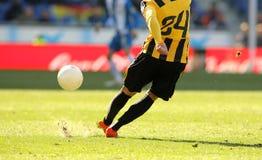 футбол игрока ног Стоковое фото RF