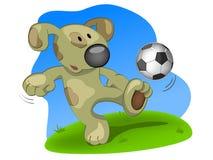 футбол игрока собаки Стоковое фото RF