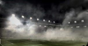 футбол игрока спички травы Стоковая Фотография
