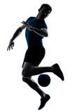 футбол игрока человека футбола Стоковое Изображение