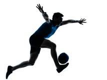футбол игрока человека футбола Стоковые Изображения RF