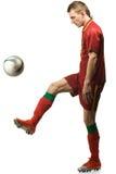 футбол игрока шарика Стоковое Изображение