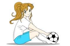 футбол игрока Иллюстрация штока