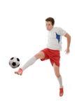 футбол игрока Стоковые Изображения