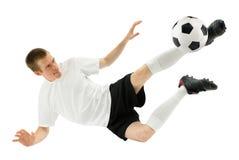 футбол игрока midair умелый Стоковые Изображения RF