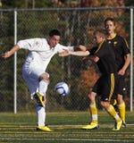 футбол игроков пинком Канады сражения шарика Стоковое Фото