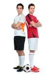 футбол игроков стоковые изображения