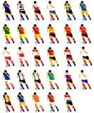 футбол игроков бесплатная иллюстрация