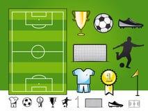 футбол икон Стоковые Фото